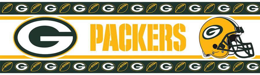 NFL Green Bay Packers Wall Border   Football Wallborder Roll 900x262