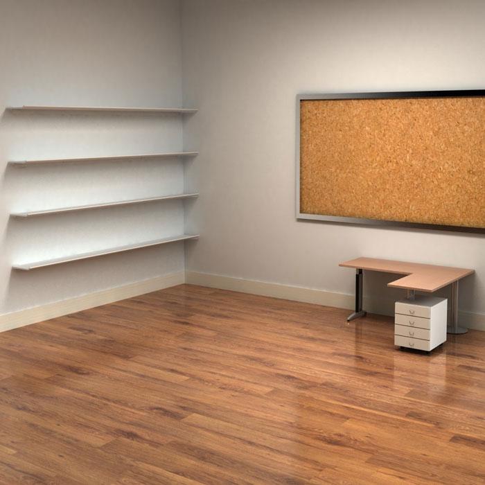 Empty Bookshelf Wallpaper