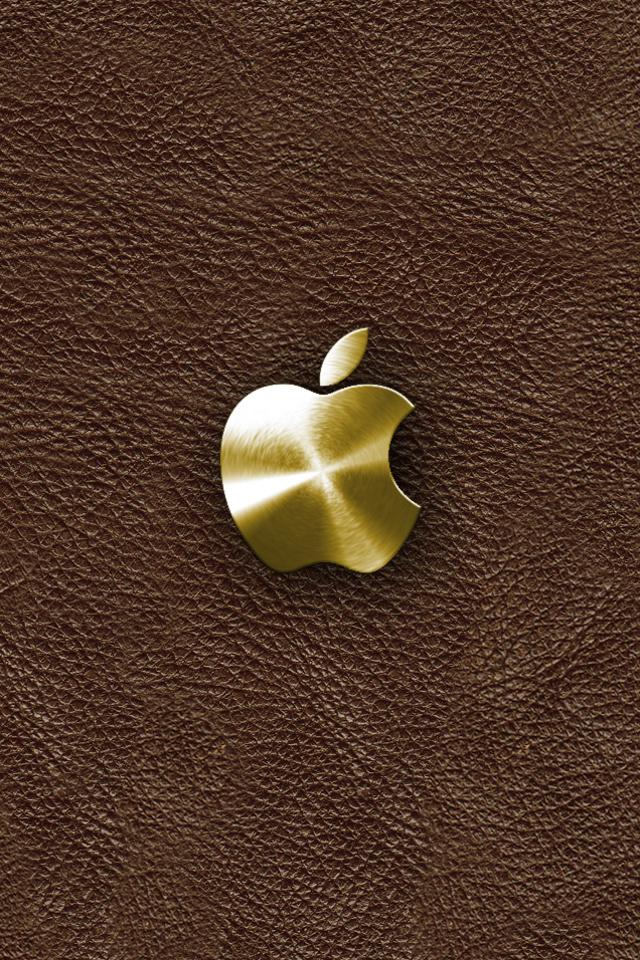 Gold Apple iphone 4S wallpaper 640x960 iPhone 4s Wallpapers iPhone 640x960