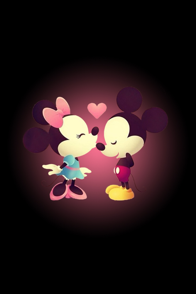 Minnie and Mickey Mouse iPhone 4 Wallpaper 640x960 640x960