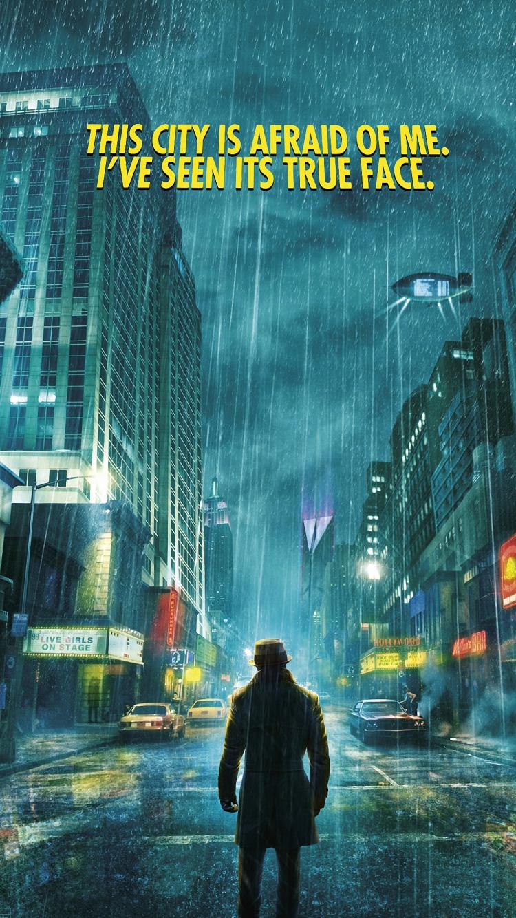 download watchmen city rain wallpaper for iphone 6 750x1334