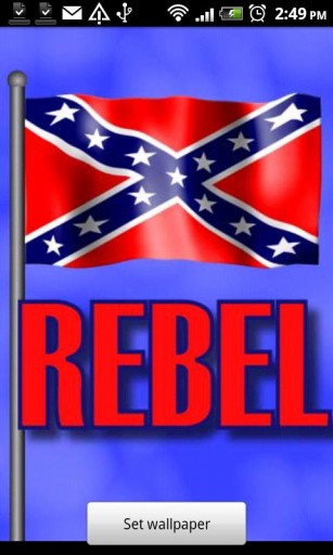 Rebel Flag Live Wallpaper App for Android by Second Round Graphics 307x512