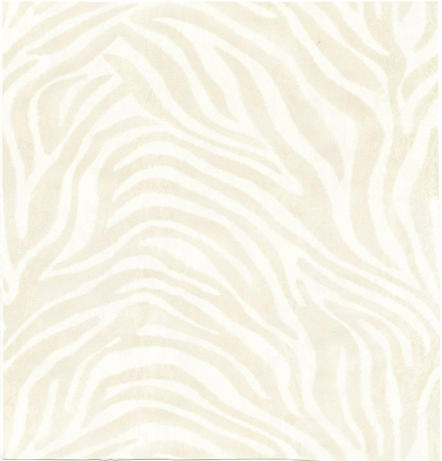 Roberto Cavalli Zebra RC12047 Wallpaper CreamWhite Fashion 1533x1600