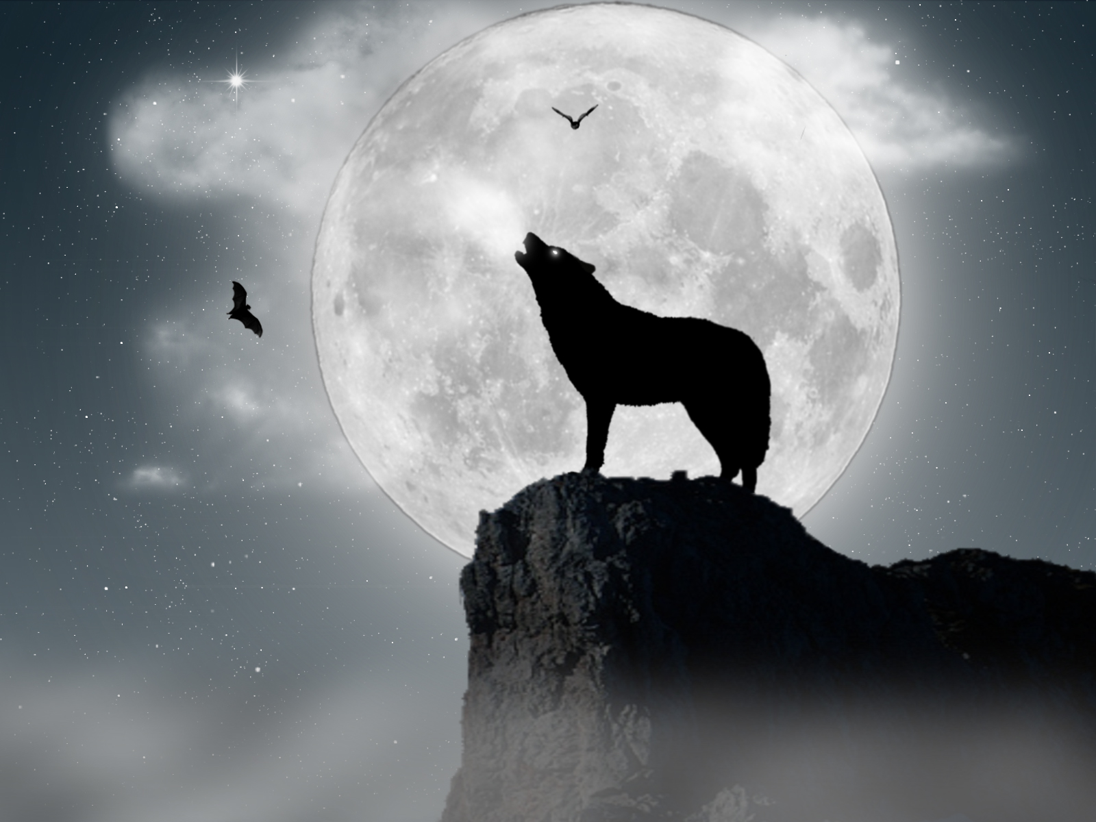 66 Wolf Howling At The Moon Wallpaper On Wallpapersafari