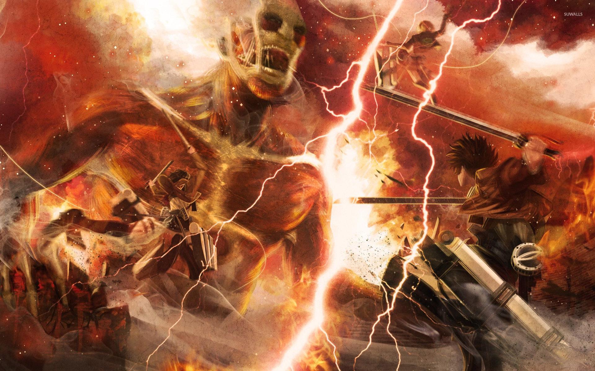 Free Download Attack On Titan Wallpaper 1366x768 1366x768