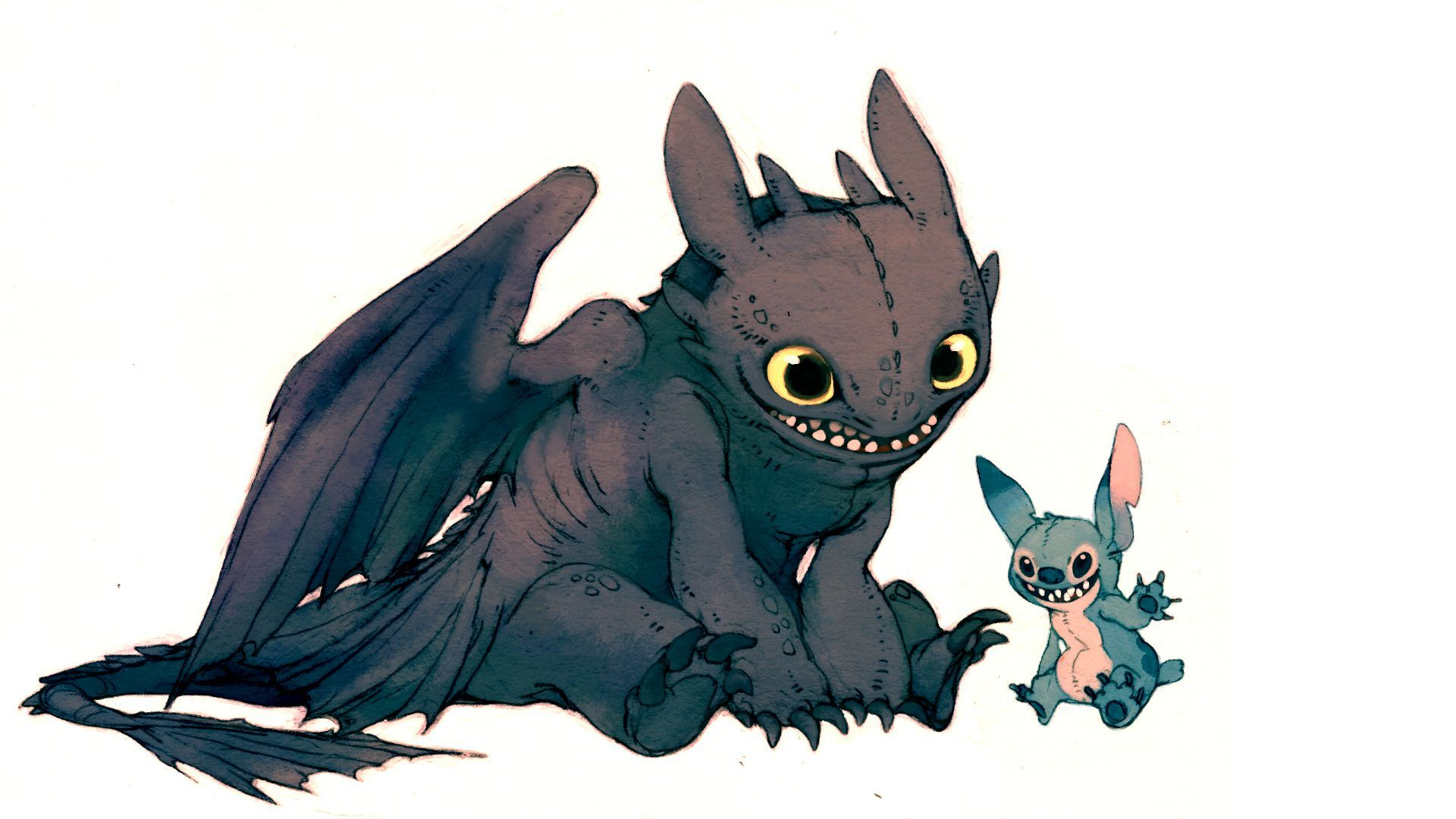 Toothless and Lilo Wallpaper 9431 1920x1080
