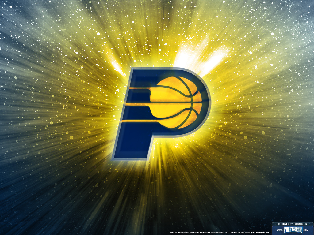 Indiana Pacers is with a team logo wallpaper on your computer and 1024x768