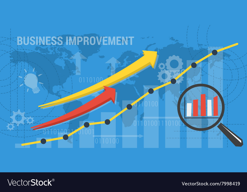 Background BUSINESS IMPROVEMENT Royalty Vector Image 1000x780