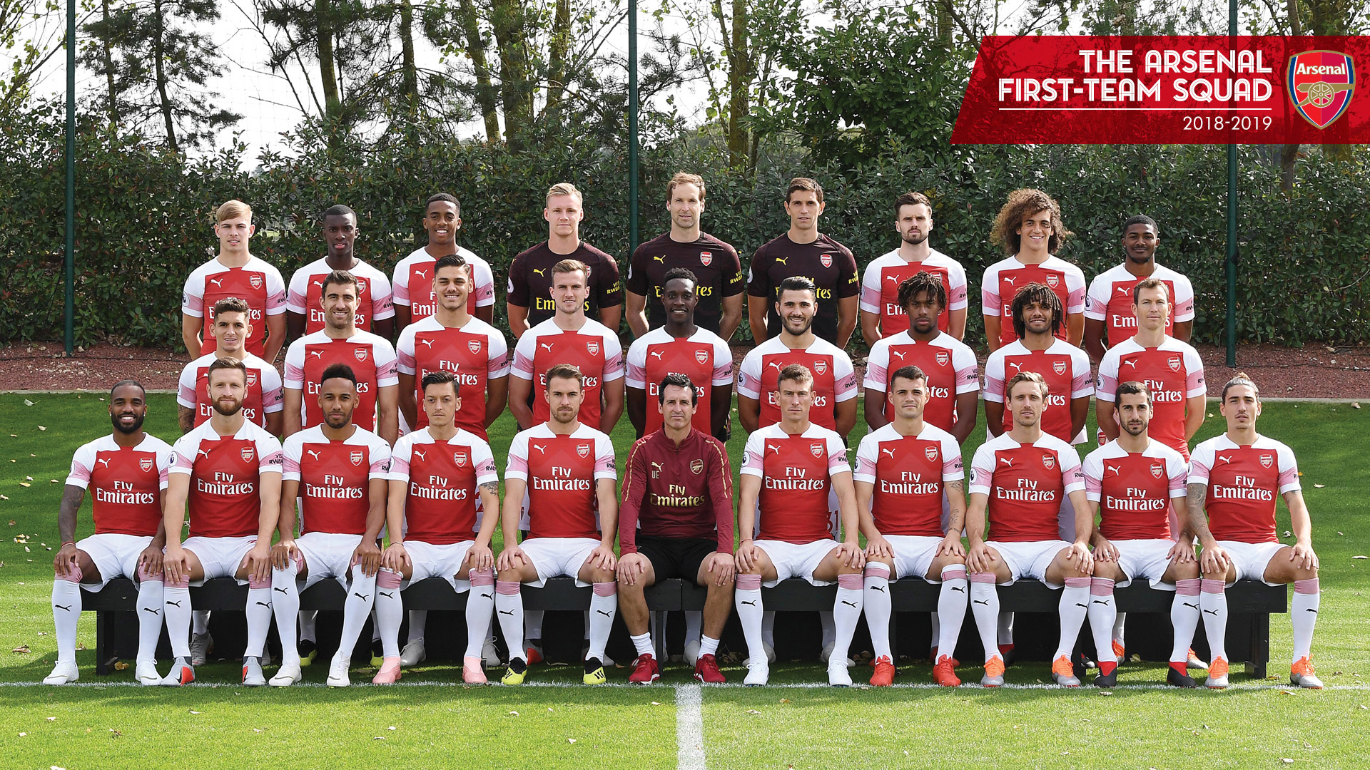 Wallpaper Of The Arsenal FC 2018 2019 First Team Squad PaperPull 1920x1080