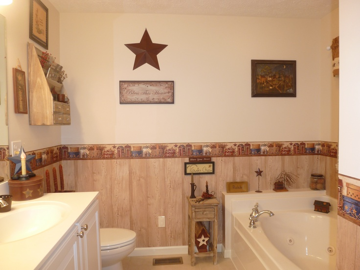 Primitive Bathroom prim bathrooms Pinterest 736x552