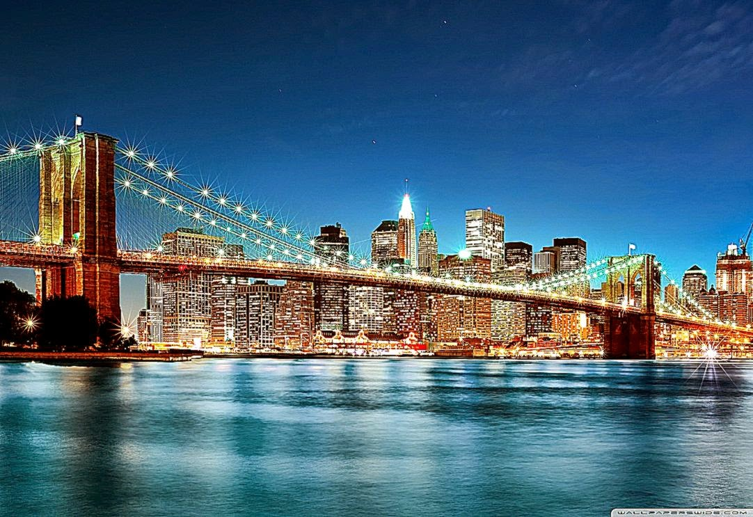 New York City At Night Background Wallpaper Wallpaper Background 1082x743