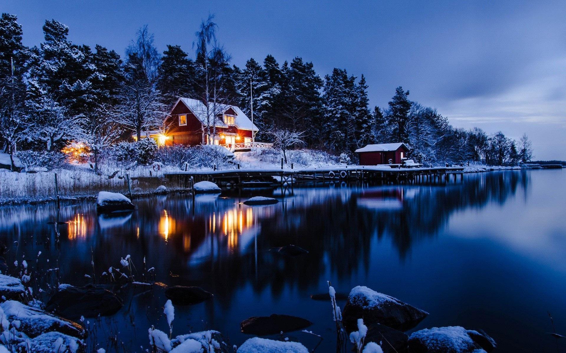 Free Winter Cabin Wallpaper Images - WallpaperSafari