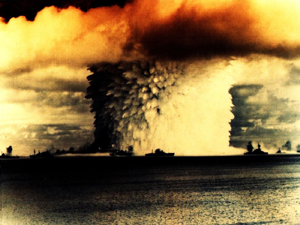Atomic Nuclear Bomb Mushroom Cloud Wallpaper HD Backgrounds 1024x768
