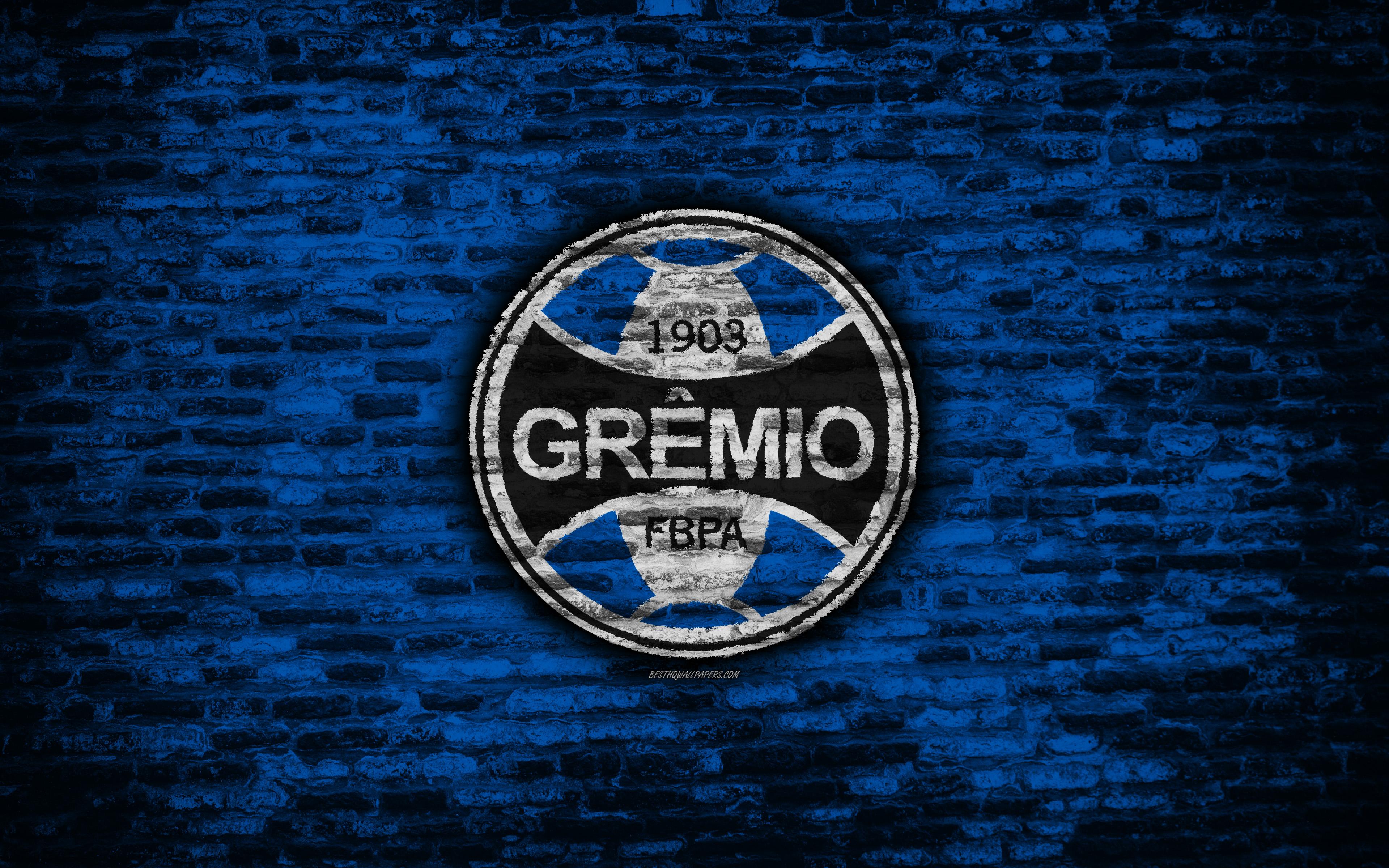 Download wallpapers FC Gremio 4k emblem Brazilian Seria A 3840x2400