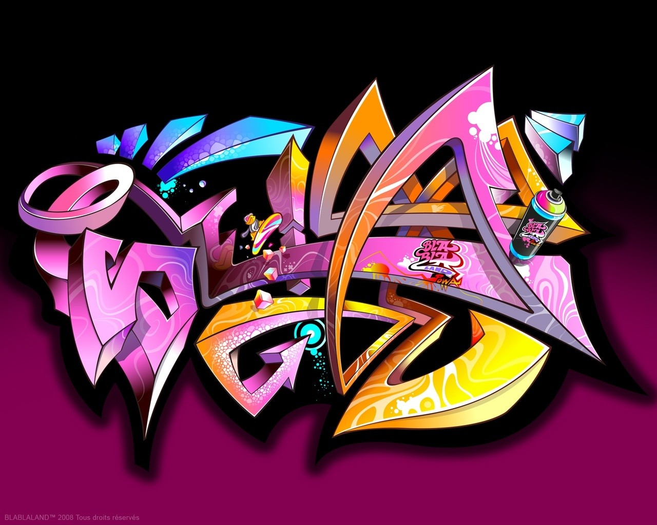 Abstract Graffiti Wallpaper 1280x1024 Abstract Graffiti 1280x1024
