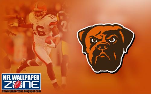 NFL Wallpaper Zone Cleveland Browns Wallpaper   Logo Desktop 500x313