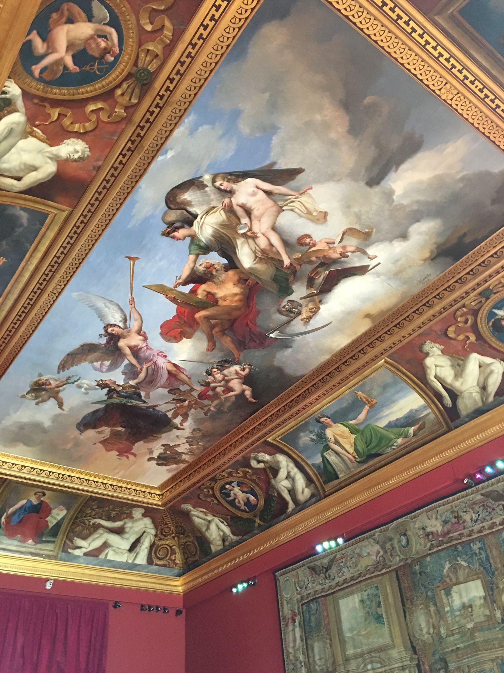 Mural ceiling painting Louvre Paris 2016 UNIQUE ART I in 2019 1656x2208