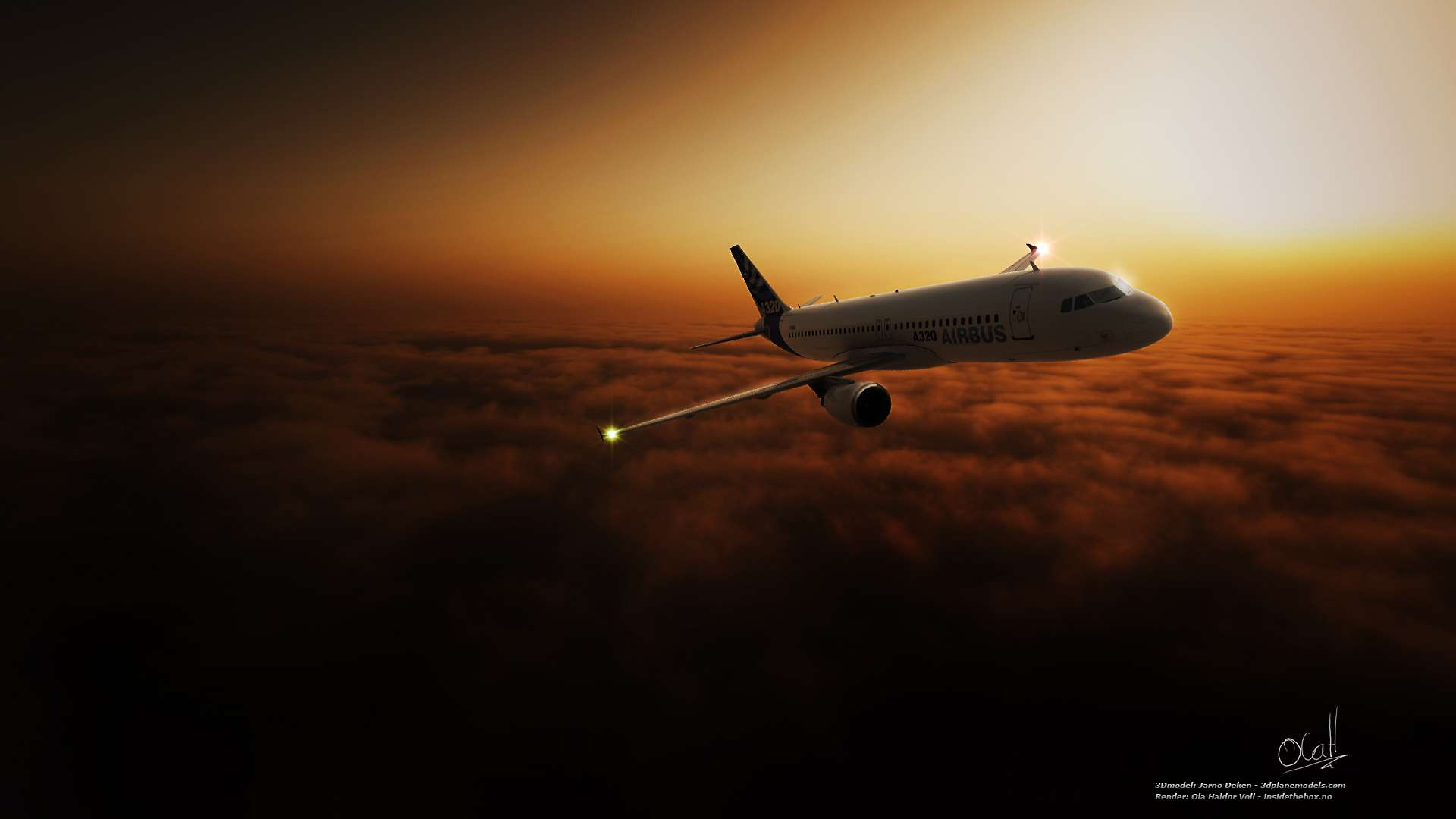 A320 3d Model HD Wallpaper FullHDWpp   Full HD Wallpapers 1920x1080 1920x1080