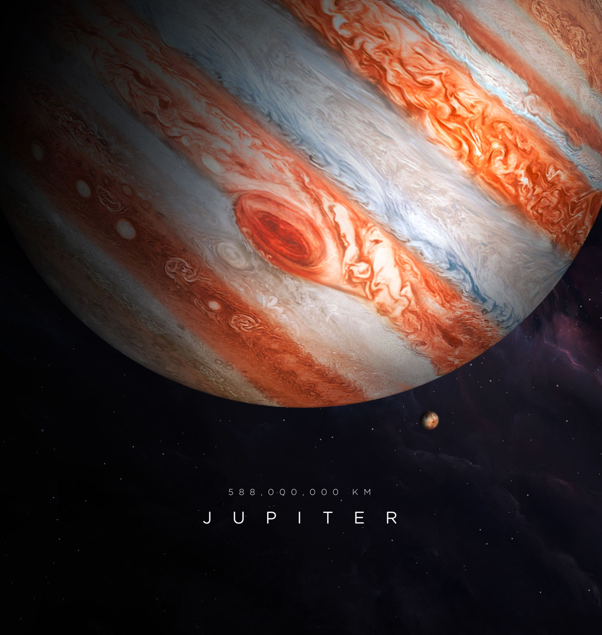 Wallpprs Jupiter Illustration 2048x2732 4k HD Wallpaper 2048x2160