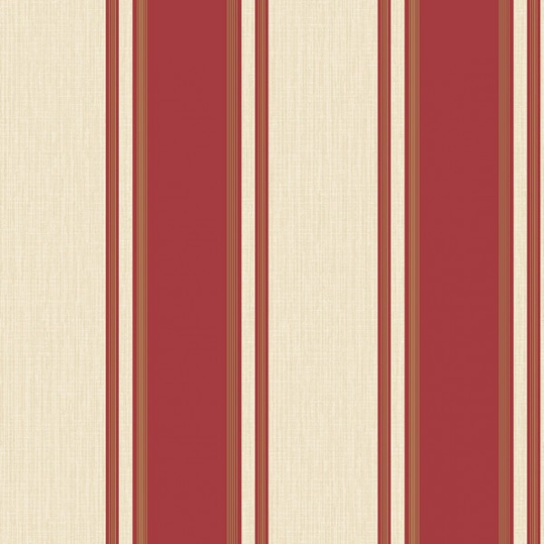 Traditional Red Cream and Gold Stripe   Wallpaper Brokers Melbourne 600x600