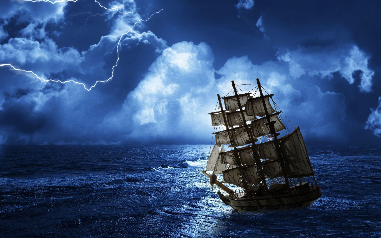 Ghost Ship Sea Wallpaper [28801800] Wallpapers Sailing 2880x1800