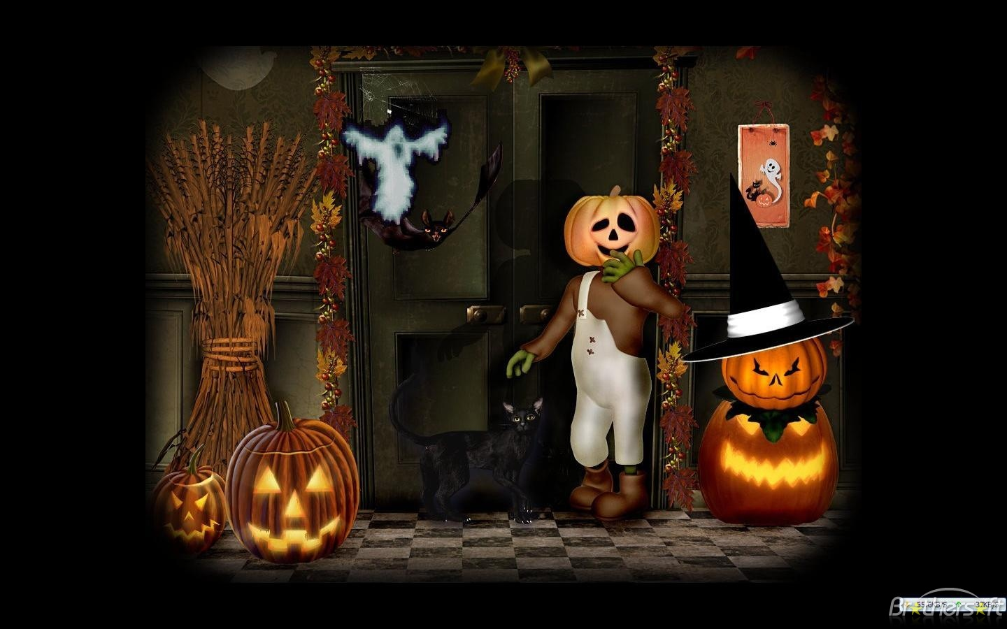 download free artsy halloween scenes screensaver artsy halloween - Free Halloween Sounds Downloads