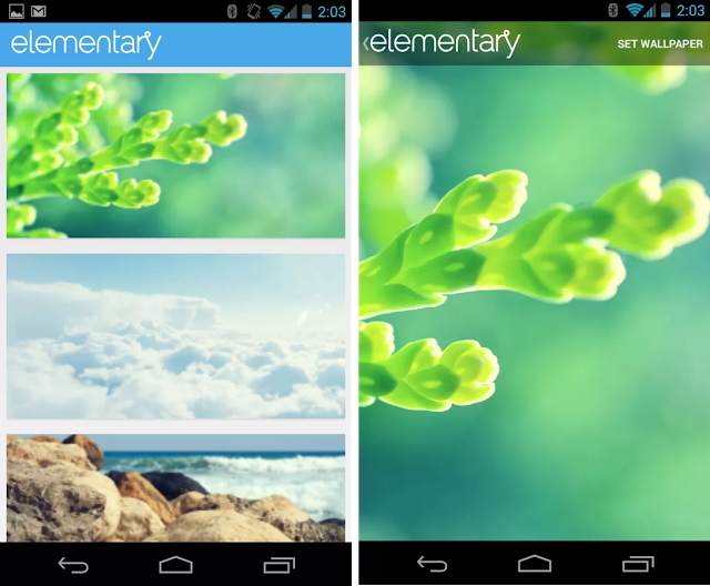 elementary wallpapers app for android like the os the android app is a 640x528