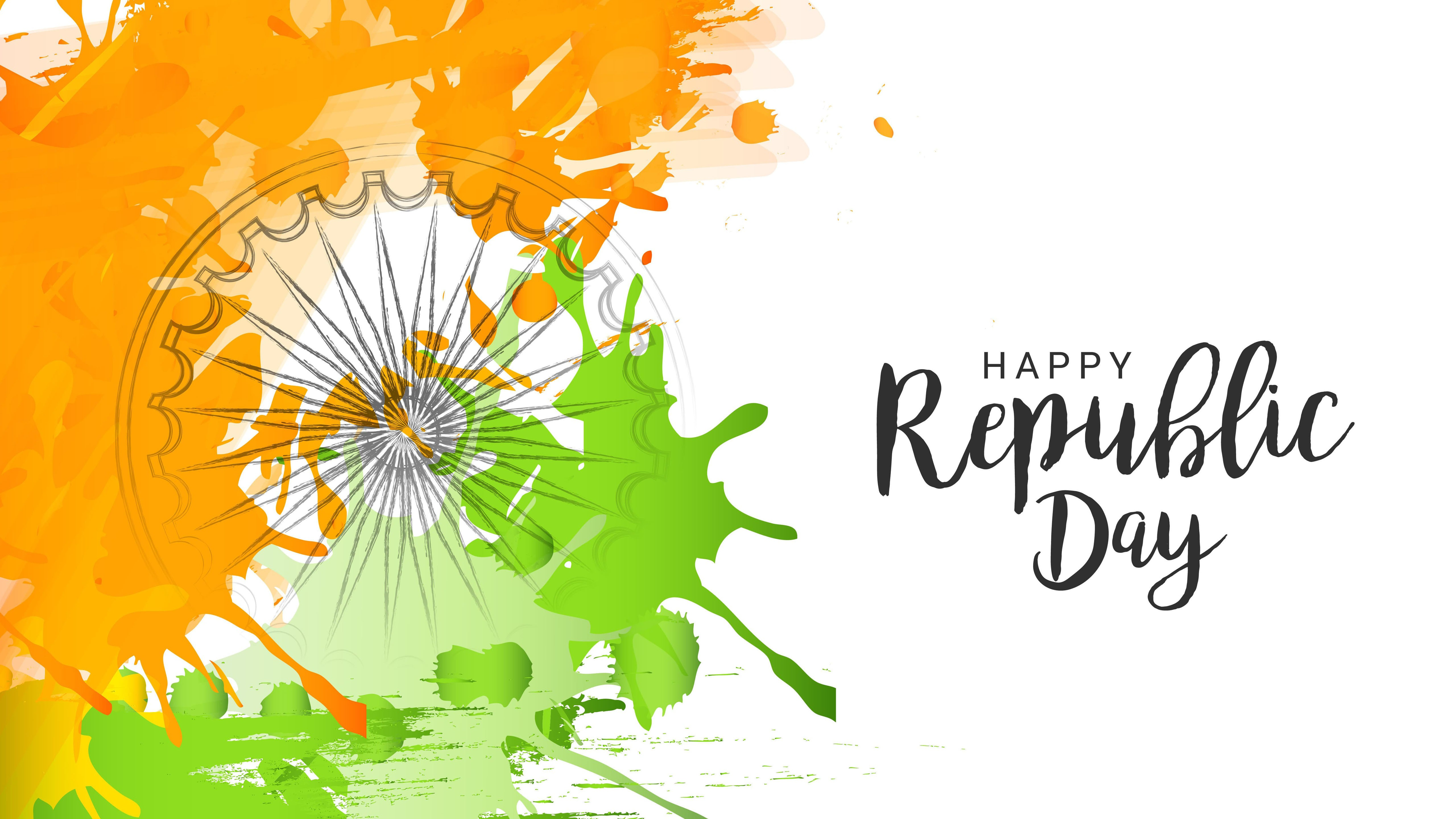 5K Pic of Happy Republic Day HD Wallpapers 5120x2880