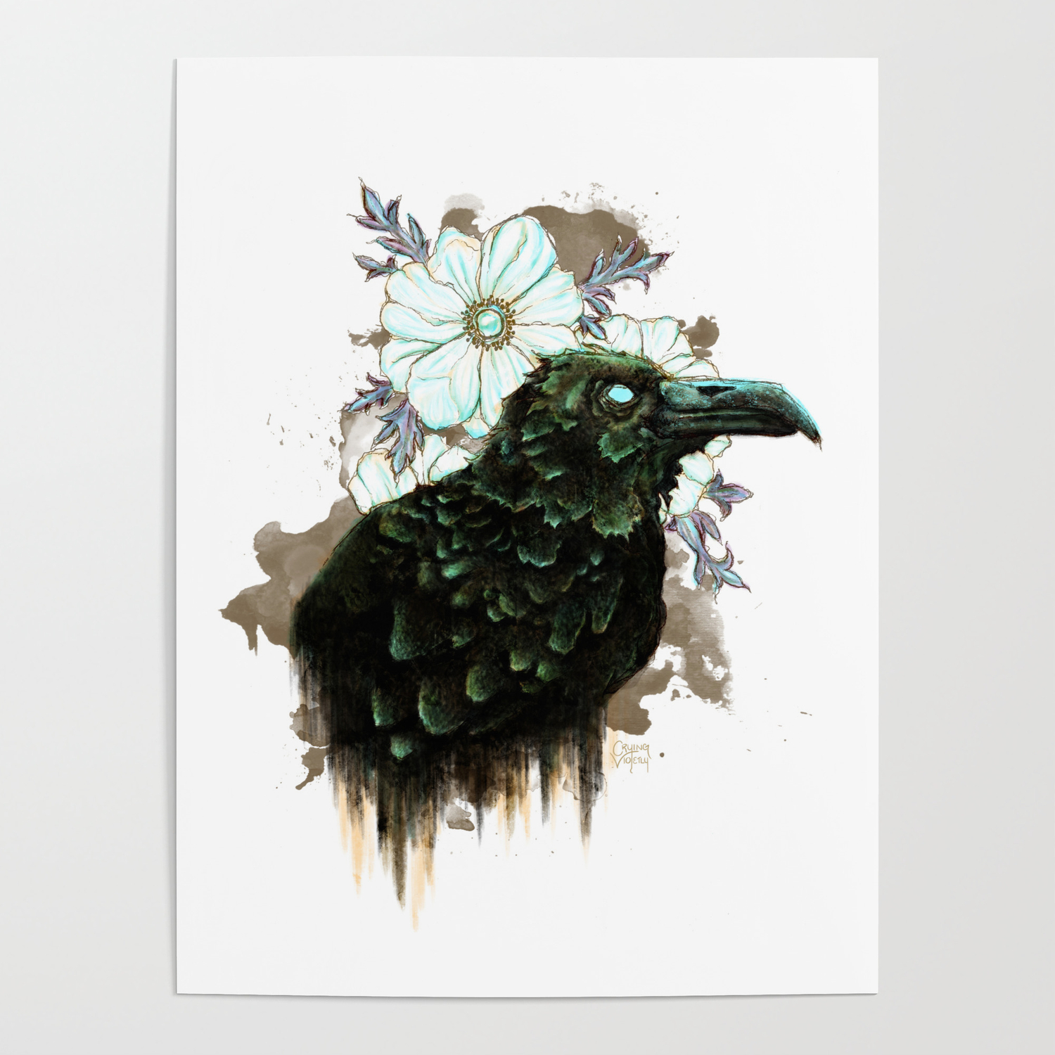 Nevermore   Alternate Color w White Background Poster by 1500x1500