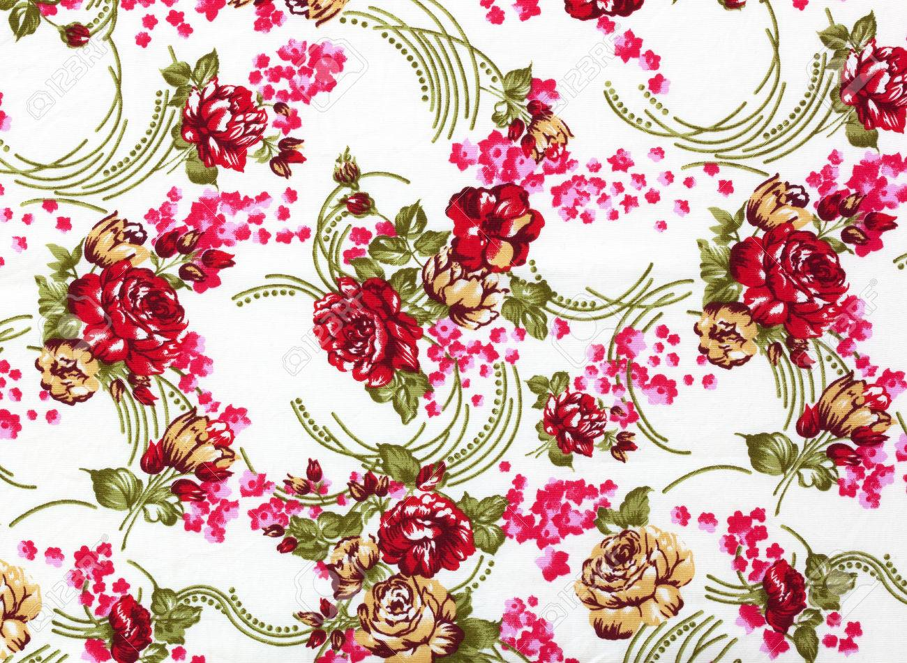 Chintz Flowers Wallpaper Texture Pattern Background Texture Stock 1300x950