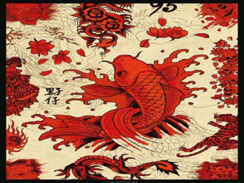 Koi background wallpaper wallpapersafari for Koi pond screensaver