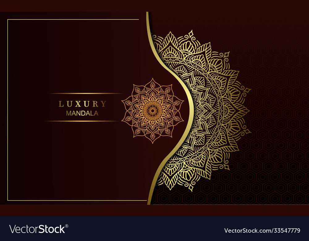 Luxury ornamental mandala background with arabic Vector Image 1000x780