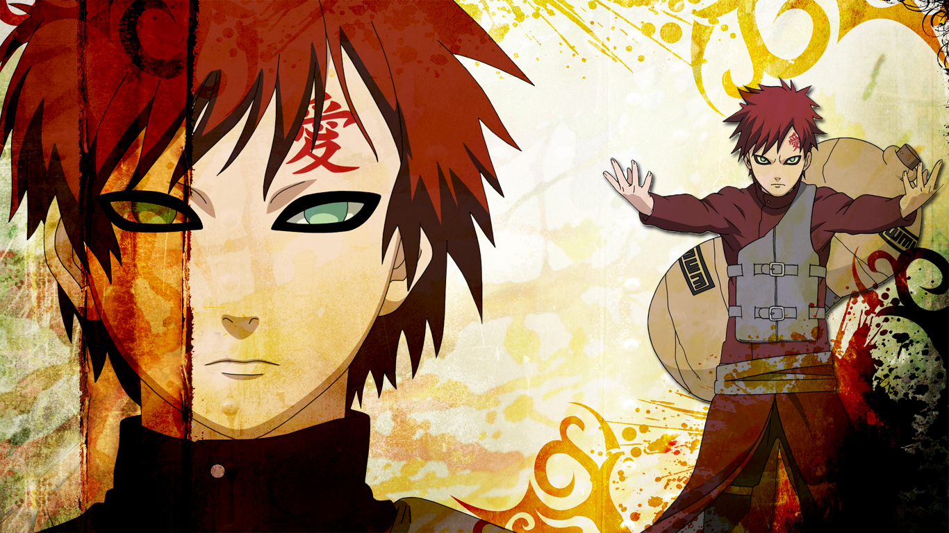 wallpaper movies tv 2012 2015 asubadesu a gaara wallpaper form naruto 1366x768