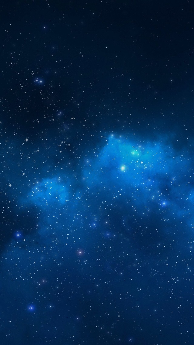 Blue Starry Night Sky Wallpaper   iPhone Wallpapers 640x1136