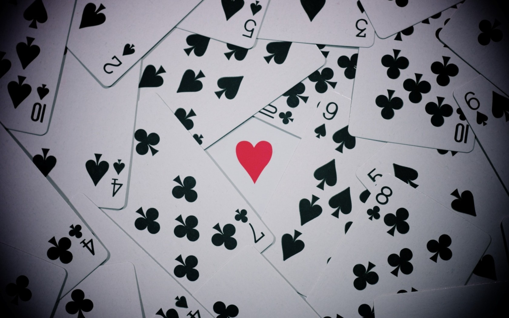 Playing Cards Wallpaper 1680x1050 Playing Cards Hearts 1680x1050