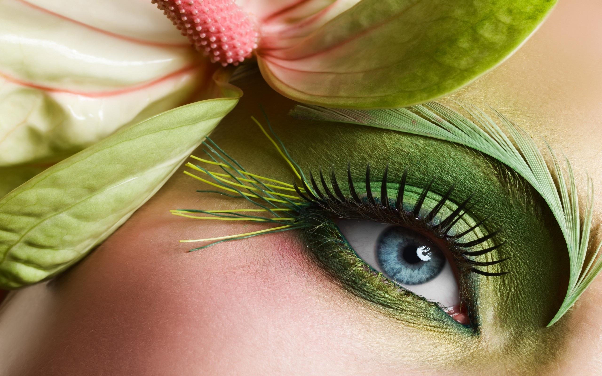 Beautiful Blue Eyes Green Makeup HD Wallpaper HD Latest Wallpapers 2560x1600