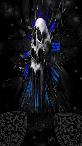 animated background 3d skull of Android phone a Skull head 3D 288x512