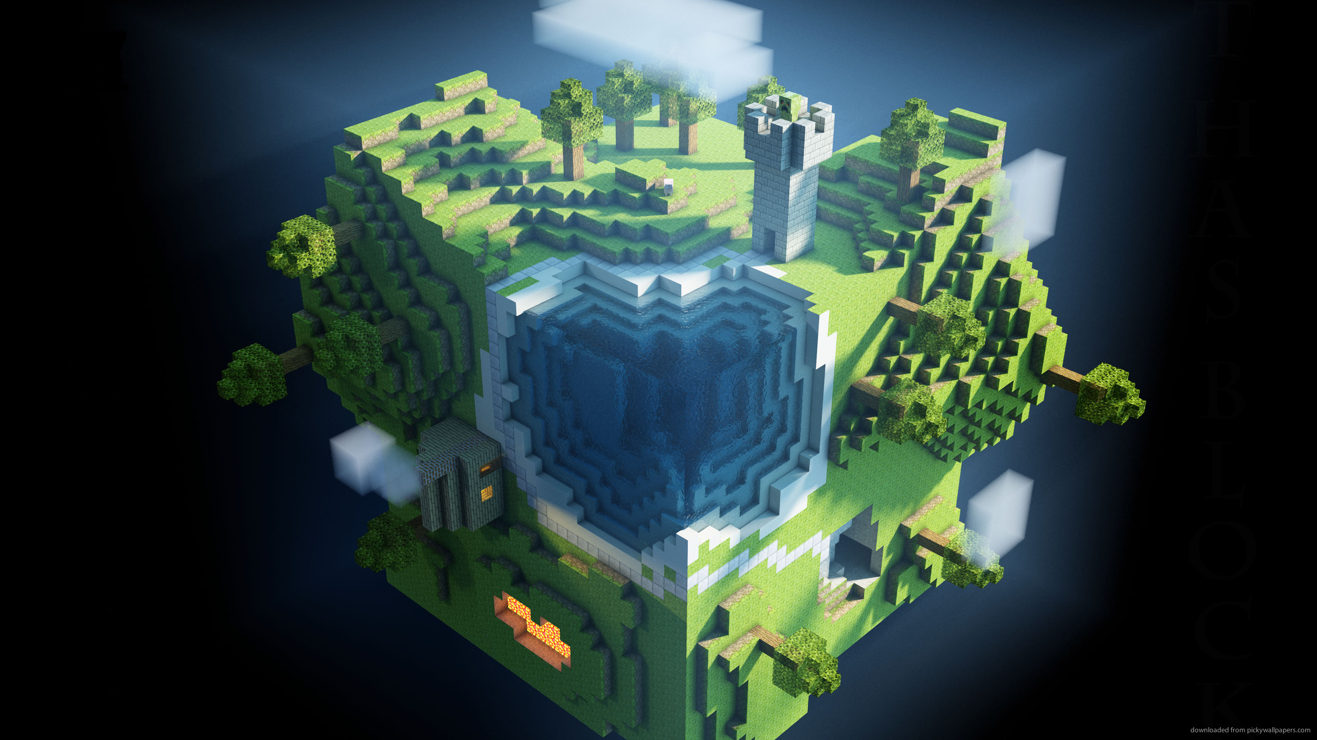minecraft wallpaper globe square pictures games 2560x1440 2560x1440