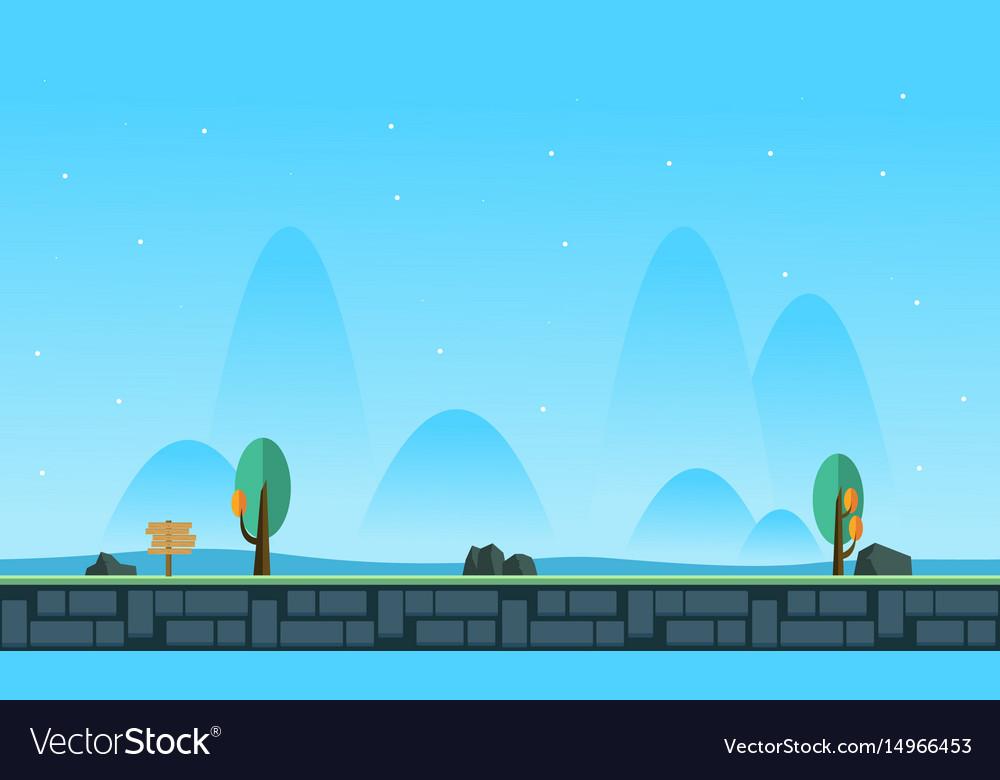 Landscape at morning for game background Vector Image 1000x780