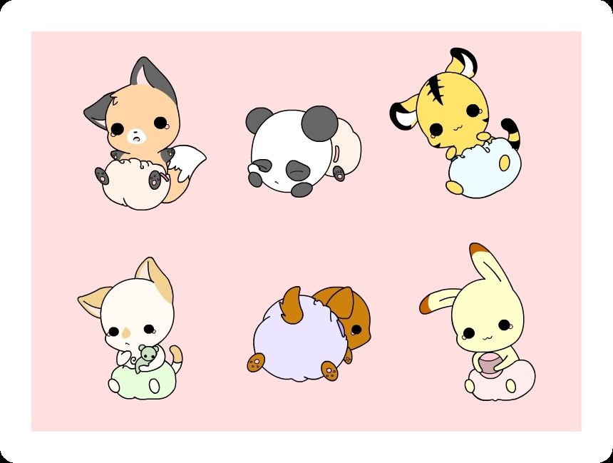 Cute Chibi Animals Wallpaper Kawaii chibis anime on 860x649