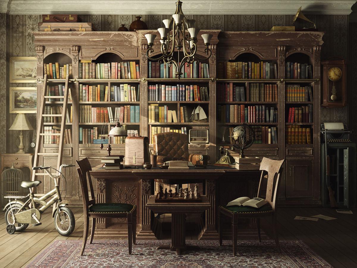 Old Library Wallpaper Wallpapersafari