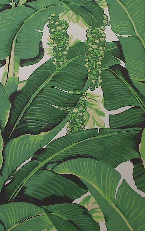 leaves cote d azure brilliant banana leaves and grapes screen print 603x960