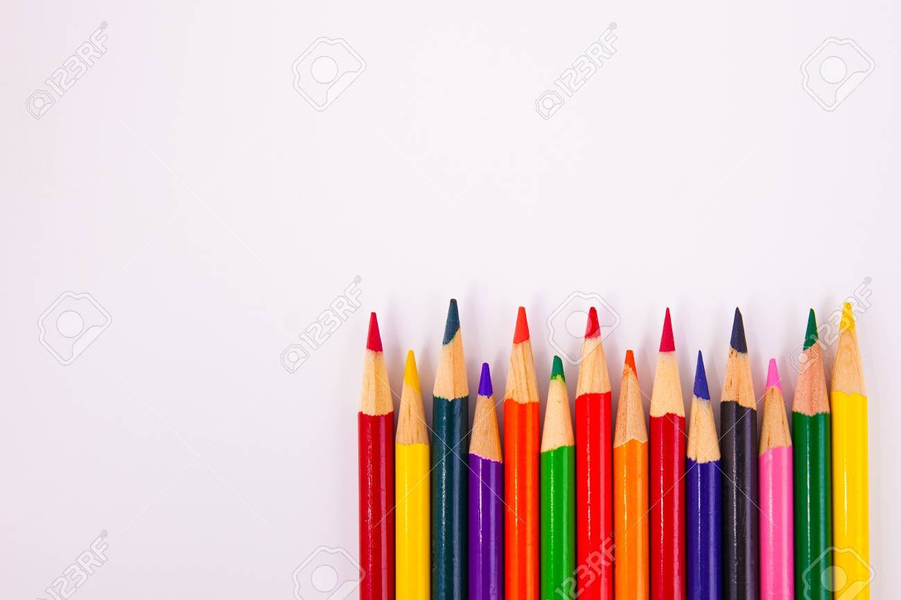Art Coloring Shading Pencils In A Row Framed Lower Right 1300x866