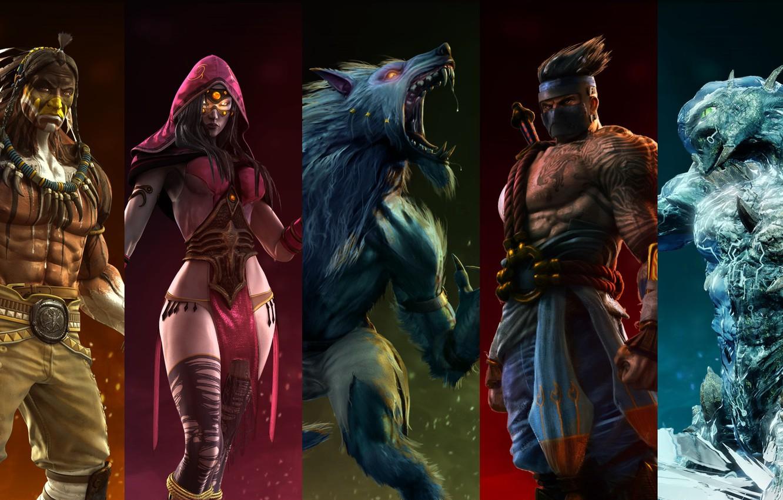 Wallpaper characters Killer Instinct Sadira Chief Thunder 1332x850