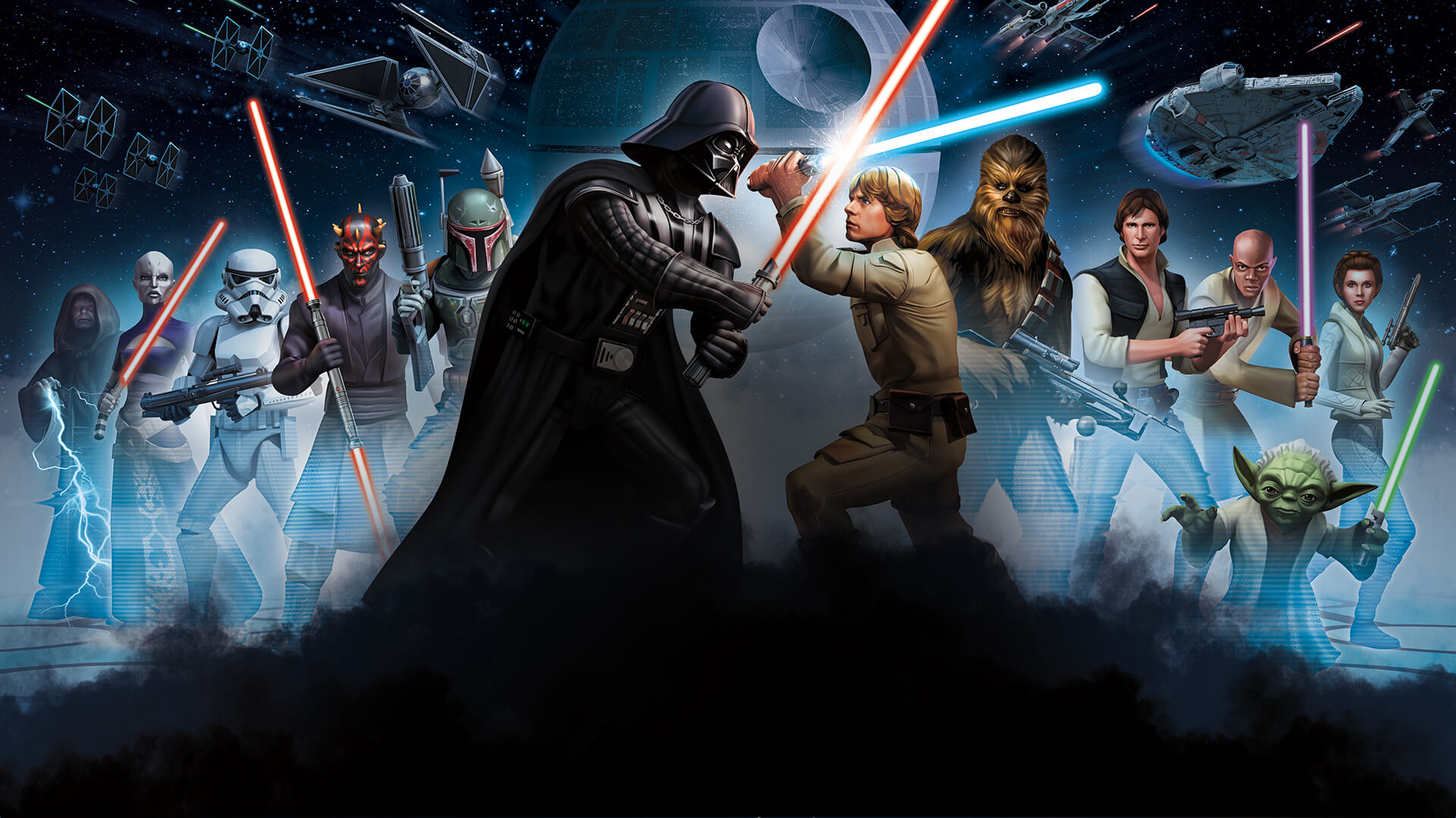 Free Download Star Wars Wallpaper Star Wars Galaxy Of Heroes Background 1920x1080 For Your Desktop Mobile Tablet Explore 27 Star Wars Galaxies Background Star Wars Galaxies Wallpaper Star Wars