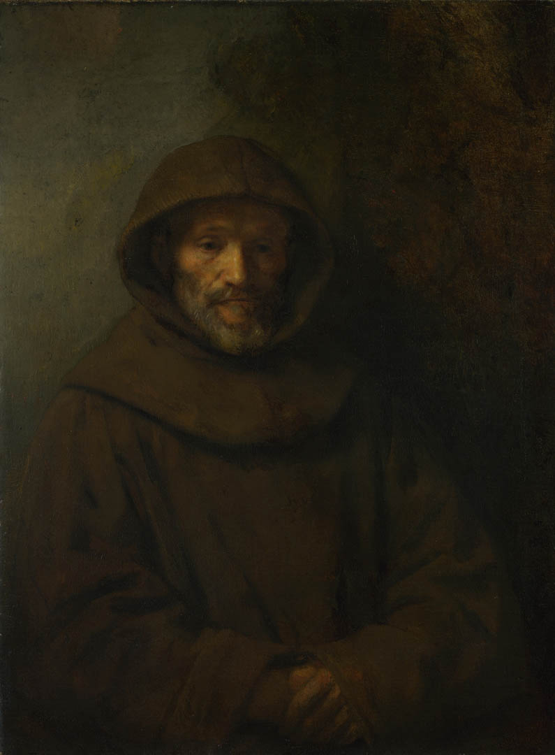 A Franciscan Friar   A dutch baroque rembrandt art wallpaper 795x1080