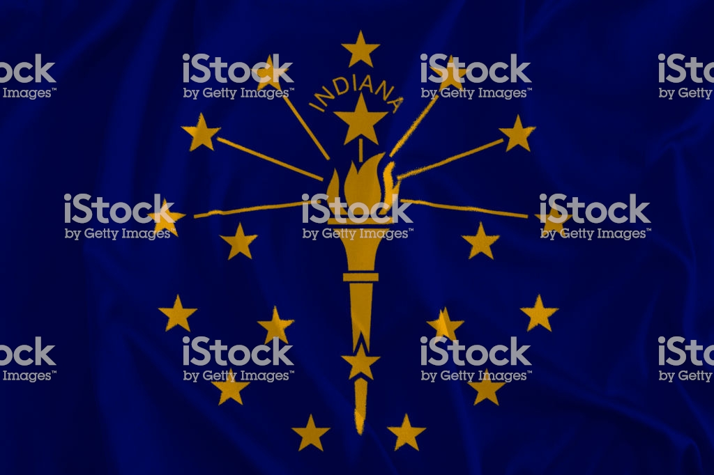 Flag Of Indiana Background The Hoosier State Stock Photo More 1024x682
