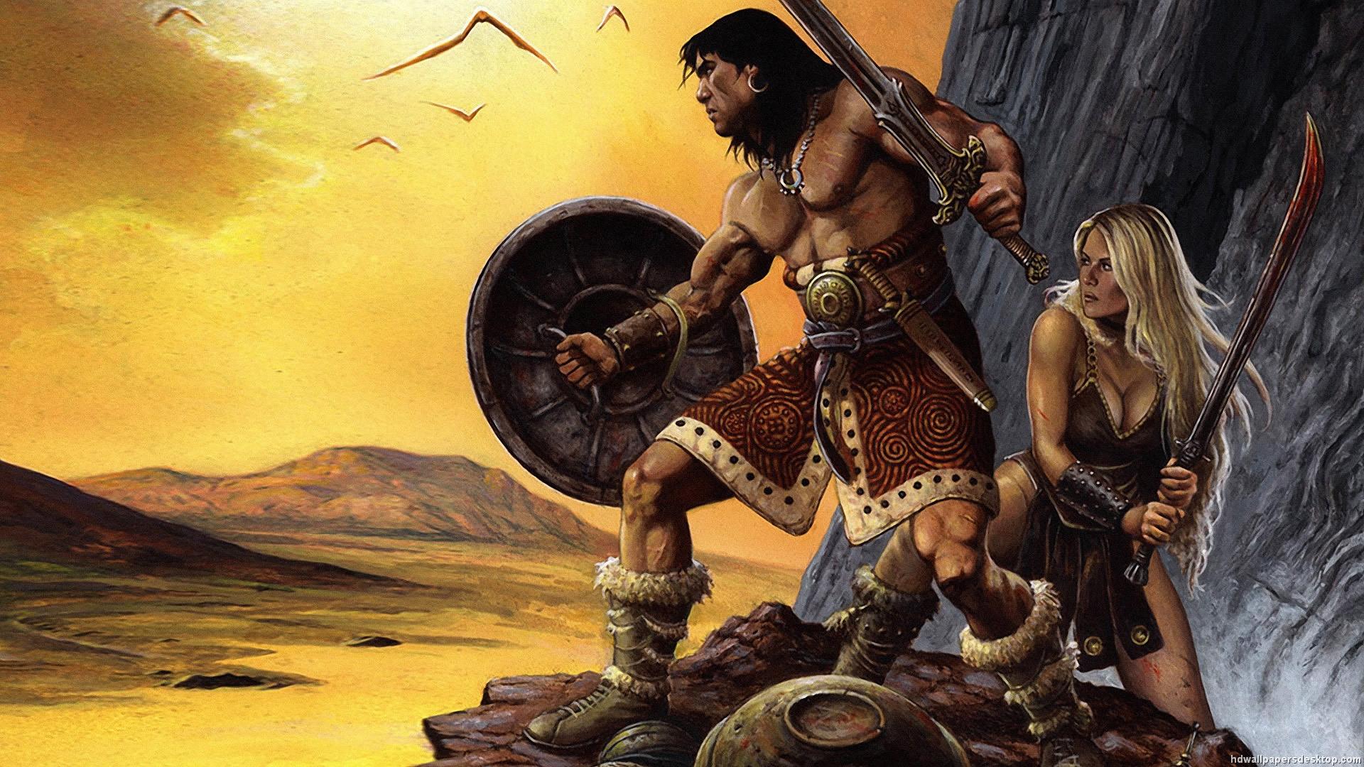 Conan the Barbarian Wallpaper Conan Red Sonja Wallpaper 1920x1080 1920x1080