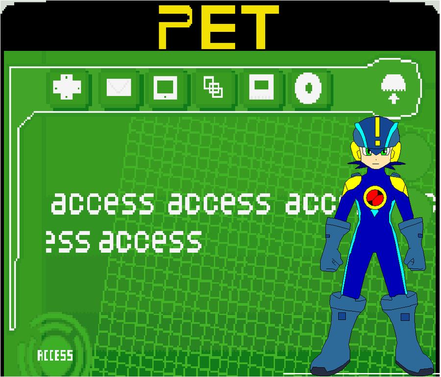 Megaman PET Screen by customcrossfusions 900x770