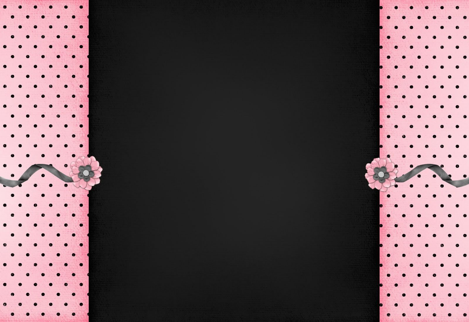 My Style backgrounds Pink and Black 1600x1100